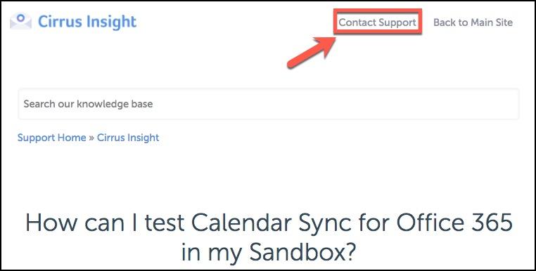 How can I test Calendar Sync for Office 365 in my Sandbox?